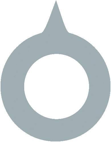 Ukazatel OKW vhodný pro knoflíky Ø 16 mm, šedá