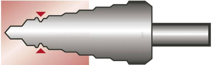 HSS sada stupňovitých vrtákov 3-dielna Exact 50071, 4 - 12 mm, 4 - 20 mm, 6 - 30 mm, TiAIN, kužeľový záhlbník, 1 sada