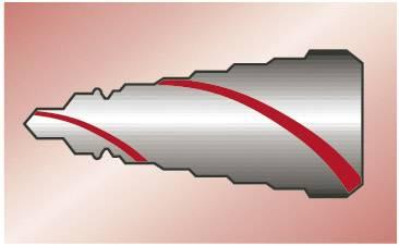HSS sada stupňovitých vrtákov 3-dielna Exact 4 - 12 mm, 4 - 20 mm, 6 - 30 mm, kužeľový záhlbník, 1 sada