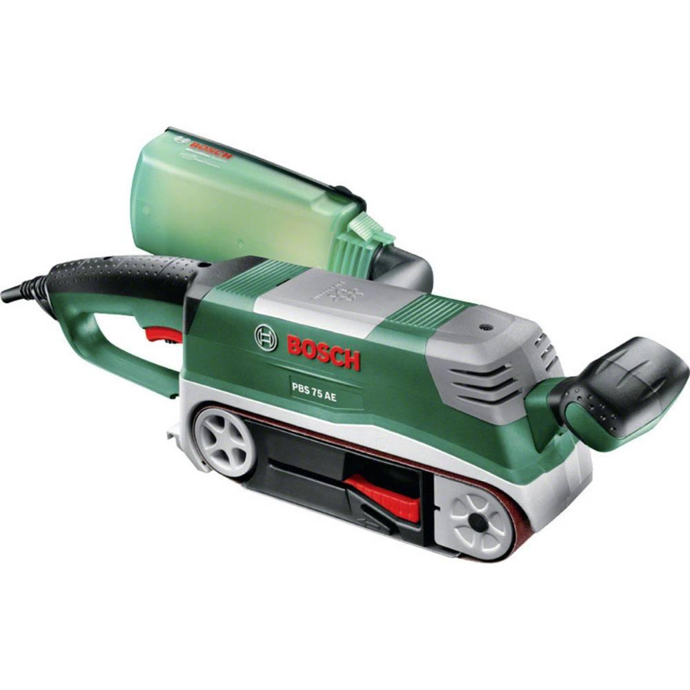 Bosch Home and Garden PBS 75 AE-Set 06032A1101 pásová bruska vč. příslušenství, kufřík 750 W 76 x 165 mm Šířka pásky 75 mm Délka pásky 533 mm