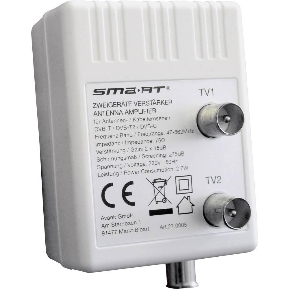 Smart HAV10B zesilovač televizního signálu dvojitý