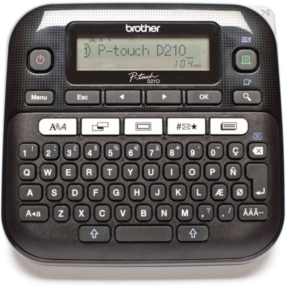 Brother P-touch D210 štítkovač vhodné pro pásky: TZ 3.5 mm, 6 mm, 9 mm, 12 mm