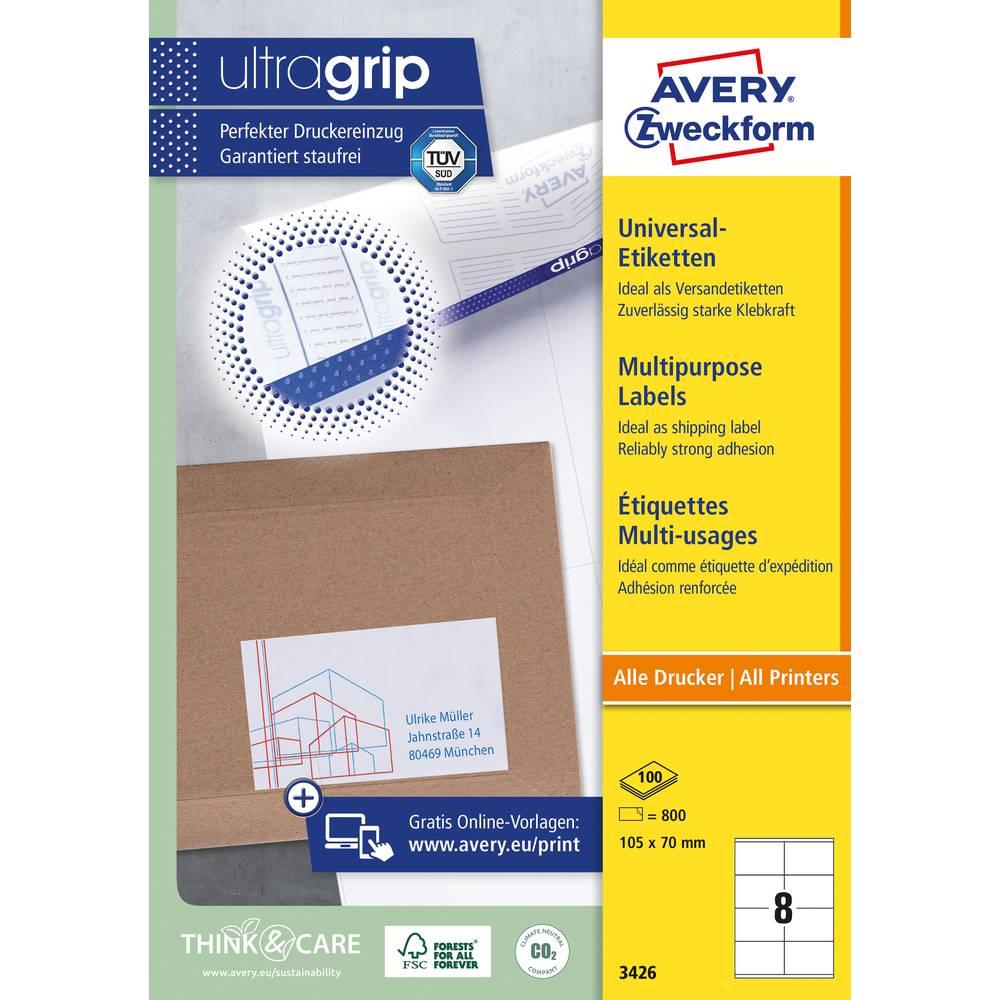 Avery-Zweckform 3426 etikety 105 x 70 mm papír bílá 800 ks permanentní univerzální etikety inkoust, laser, kopie 100 Sheet A4