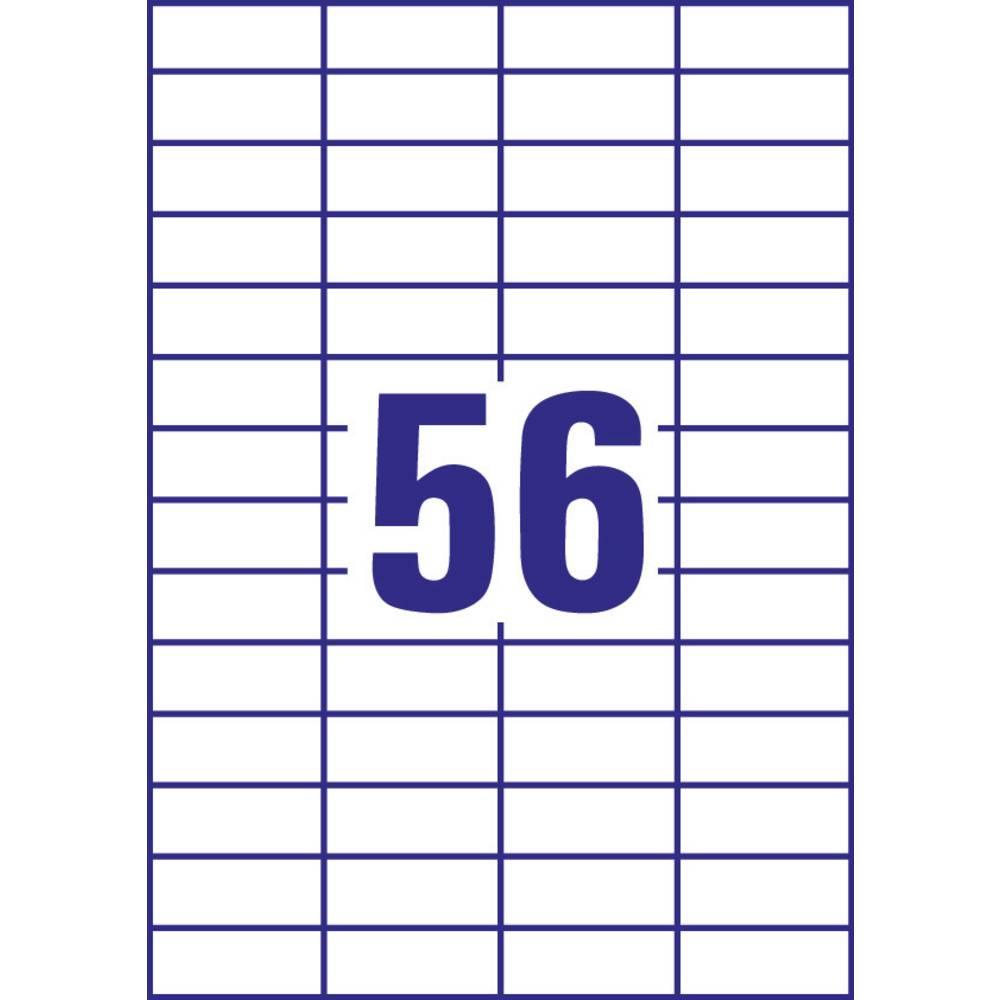 Avery-Zweckform 3668 etikety 52.5 x 21.2 mm papír bílá 5600 ks permanentní univerzální etikety inkoust, laser, kopie 100 Sheet A4