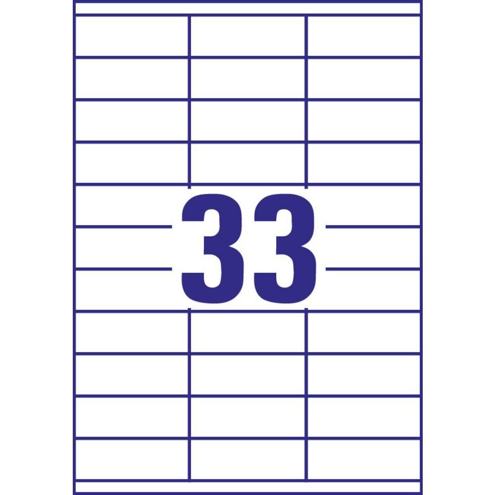 Avery-Zweckform 3421 etikety 70 x 25.4 mm papír bílá 3300 ks permanentní univerzální etikety inkoust, laser, kopie 100 Sheet A4