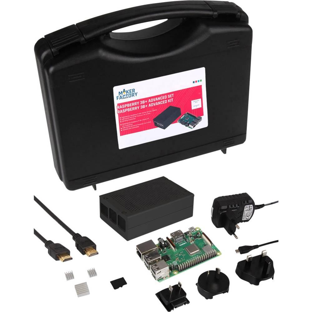 MAKERFACTORY Advanced Set Raspberry Pi® 3 B+ 1 GB 4 x 1.4 GHz vč. pouzdra, vč. Noobs OS, vč. chladicího tělesa, vč. napájecího zdroje, vč. úložného kufříku