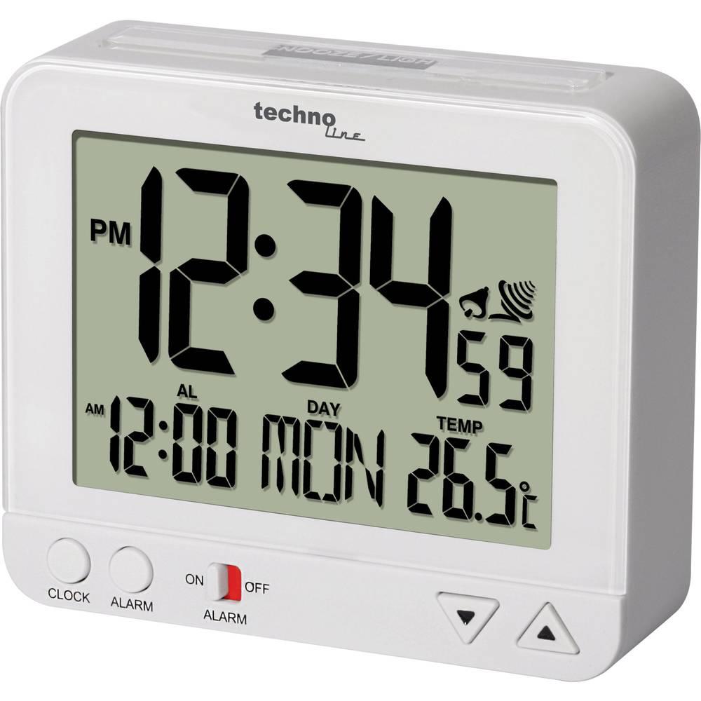 Techno Line WT 195 WHITE DCF budík bílá časů buzení 1