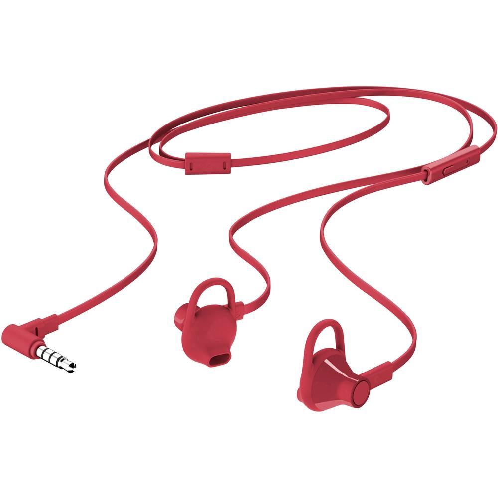 HP 150 Hi-Fi náhlavní sada In Ear Stereo do uší červená