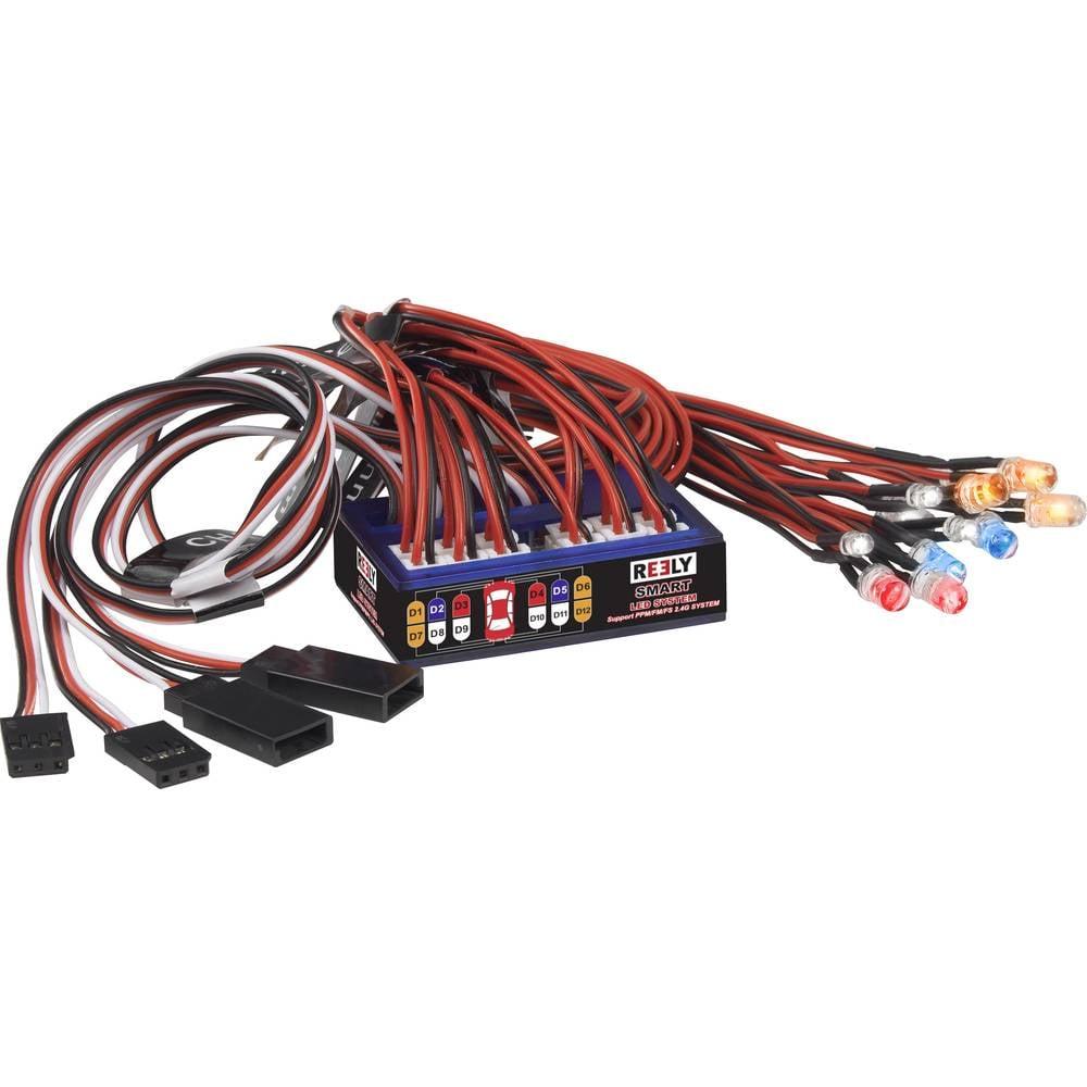 Reely LED osvětlení bílá, oranžová, červená, modrá blikající 4.8 - 6 V RE-5631024
