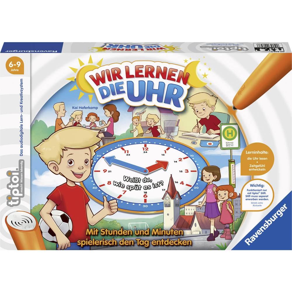 Ravensburger Učíme se hodin tiptoi® Wir lernen die Uhr 00847