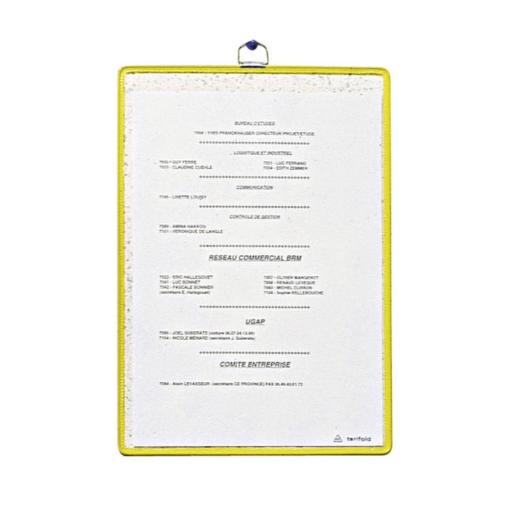 Tarifold pohledová tabule žlutá DIN A5 na výšku