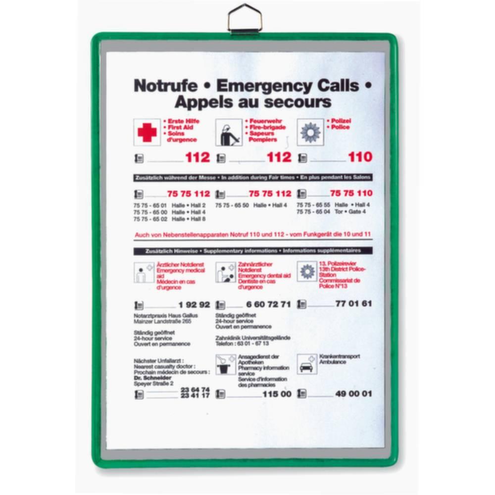 Tarifold pohledová tabule zelená DIN A5 na výšku