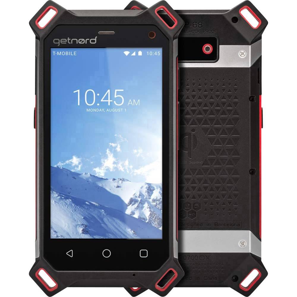 getnord Lynx outdoorový smartphone 16 GB 4.7 palec (11.9 cm) dual SIM Android™ 8.1 Oreo černá, červená