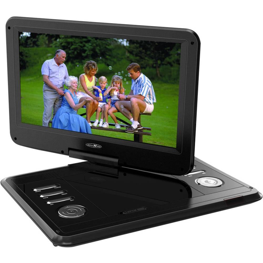 Reflexion DVD 1217 Přenosná TV s DVD přehrávačem 29.5 cm 11.6 palec Energetická třída (EEK2021): C (A - G) vč. antény DVB-T, vč. 12V připojovacího kabelu do auta černá