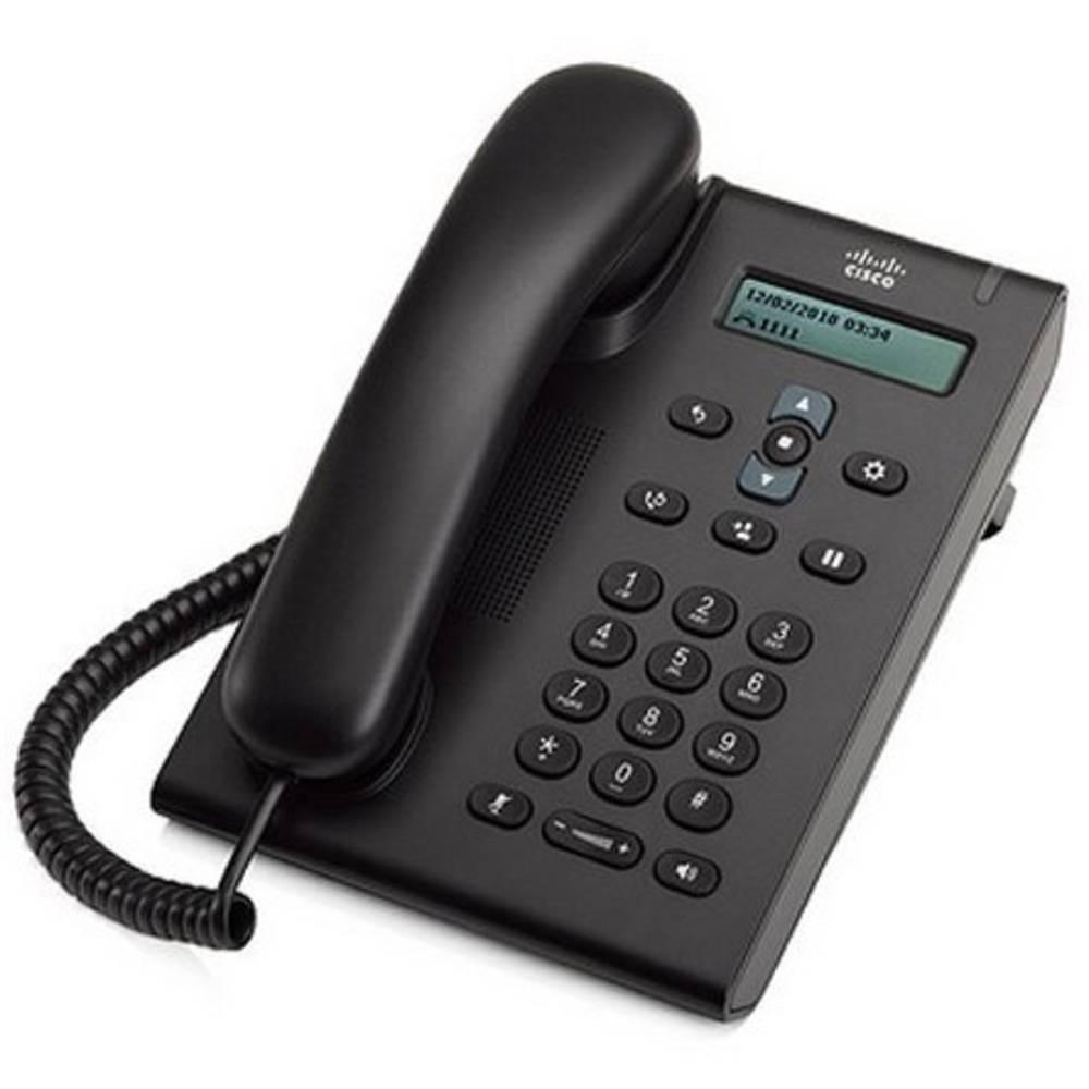 Cisco CP-3905-RF systémový telefon, VoIP LCD displej antracitová