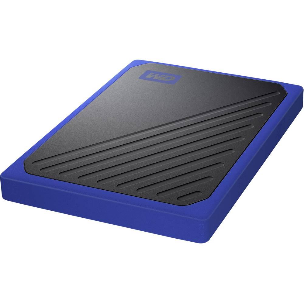 WD My Passport™ Go 1 TB externí SSD disk USB 3.0 černá, modrá WDBMCG0010BBT-WESN