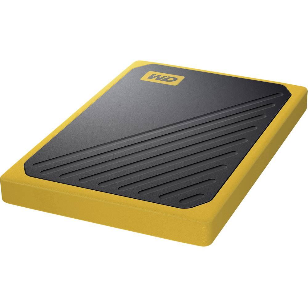 WD My Passport™ Go 1 TB externí SSD disk USB 3.0 černá, žlutá WDBMCG0010BYT-WESN