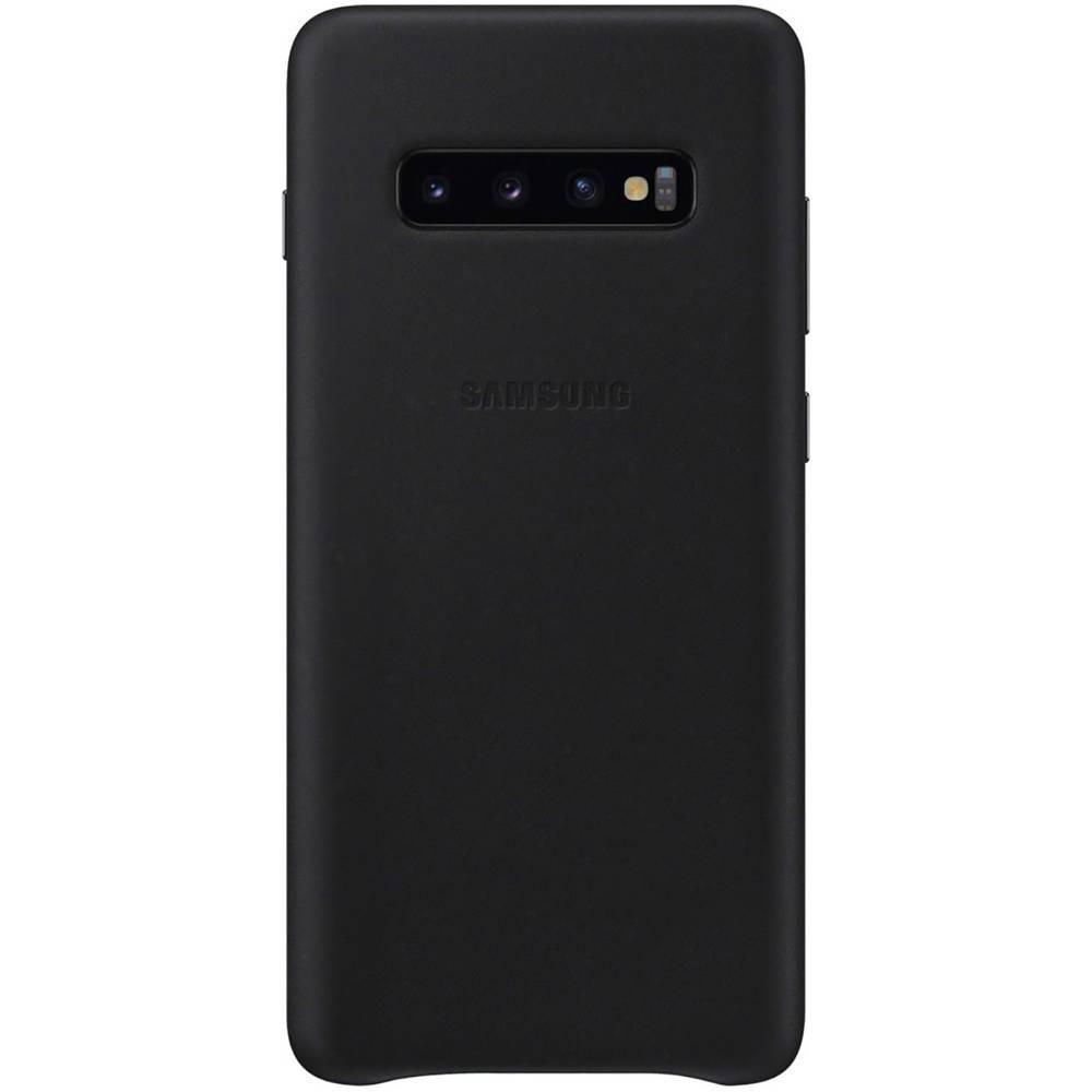 Samsung Leather zadní kryt na mobil Samsung Galaxy S10+ černá