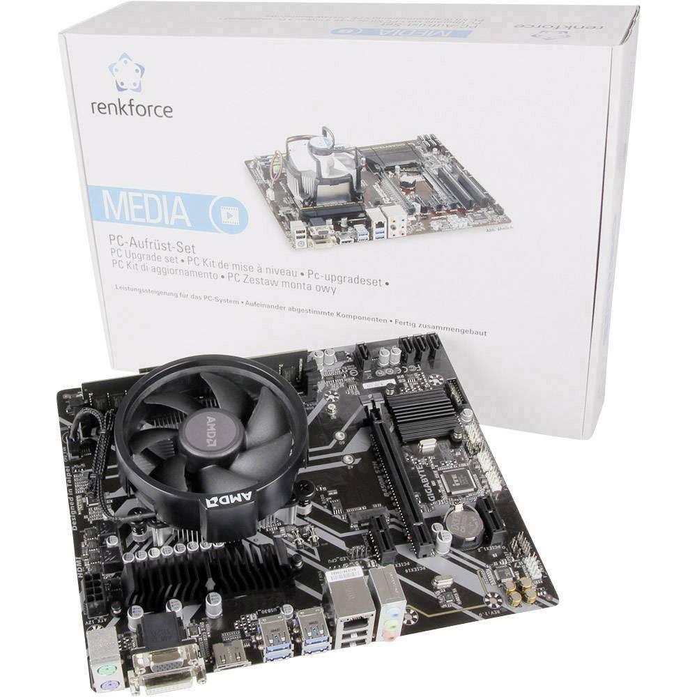 Renkforce PC Tuning-Kit AMD Ryzen™ 3 2200G (4 x 3.5 GHz) 8 GB AMD Radeon Vega Graphics Vega 8 Micro-ATX