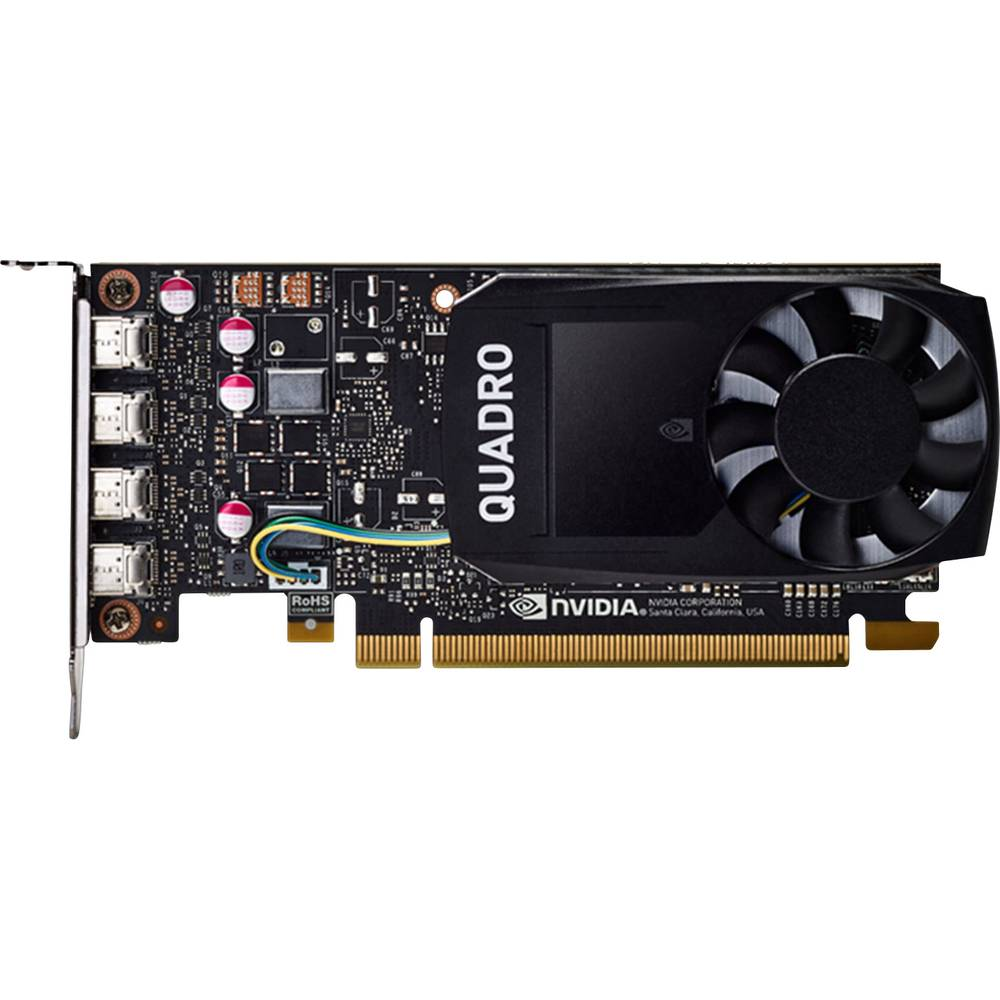 Dell grafická karta - Pracovní stanice Nvidia Quadro P1000 4 GB GDDR5 RAM PCIe x16 mini DisplayPort