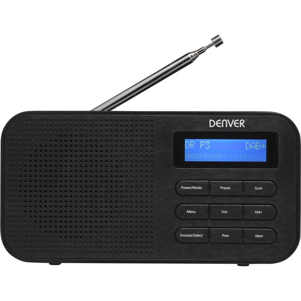 Denver DAB-42 přenosné rádio DAB+, FM černá