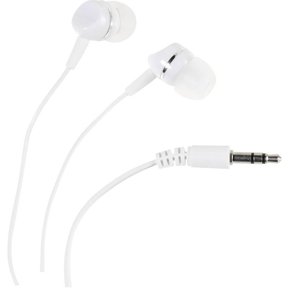 Vivanco SR 3 WHITE Hi-Fi špuntová sluchátka do uší bílá