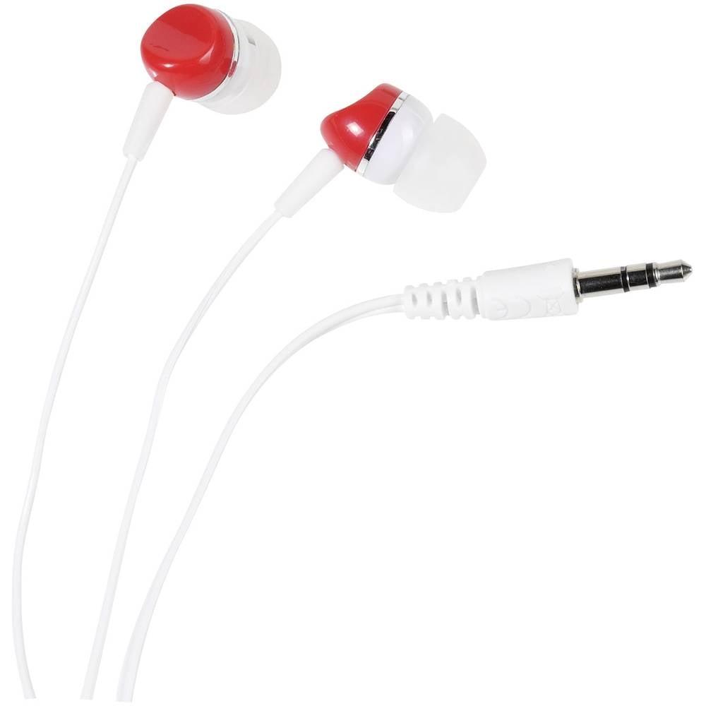 Vivanco SR 3 RED Hi-Fi špuntová sluchátka do uší bílá, červená