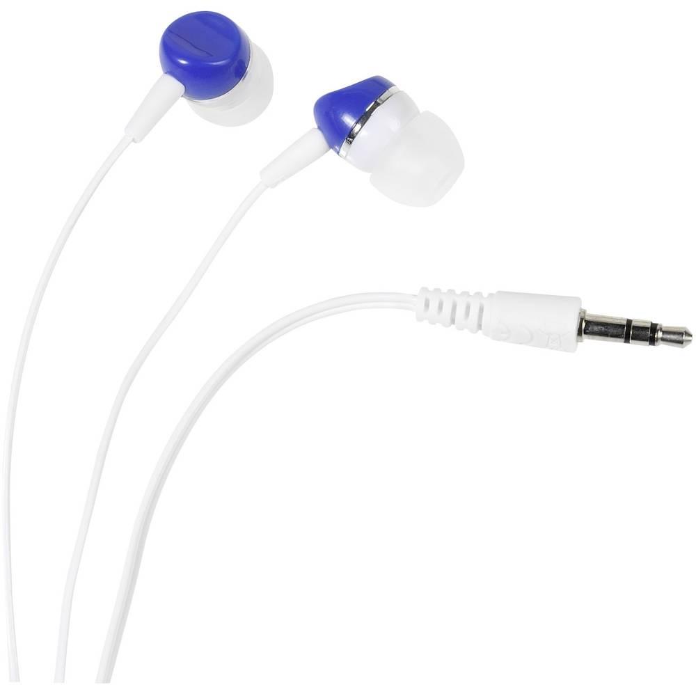 Vivanco SR 3 BLUE Hi-Fi špuntová sluchátka do uší bílá, modrá