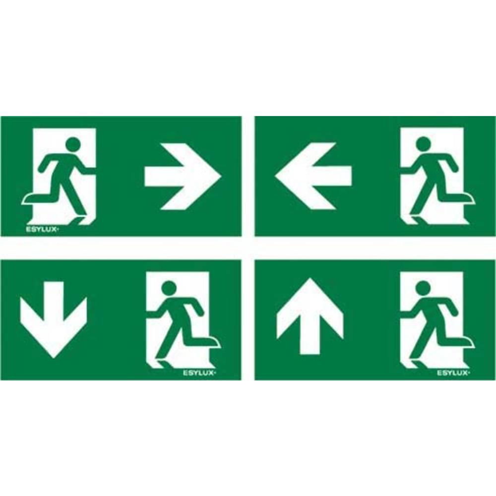 ESYLUX EN10077524 piktogram Nouzový východ vpravo , Nouzový východ vlevo, nouzový východ níže, nouzový východ výše