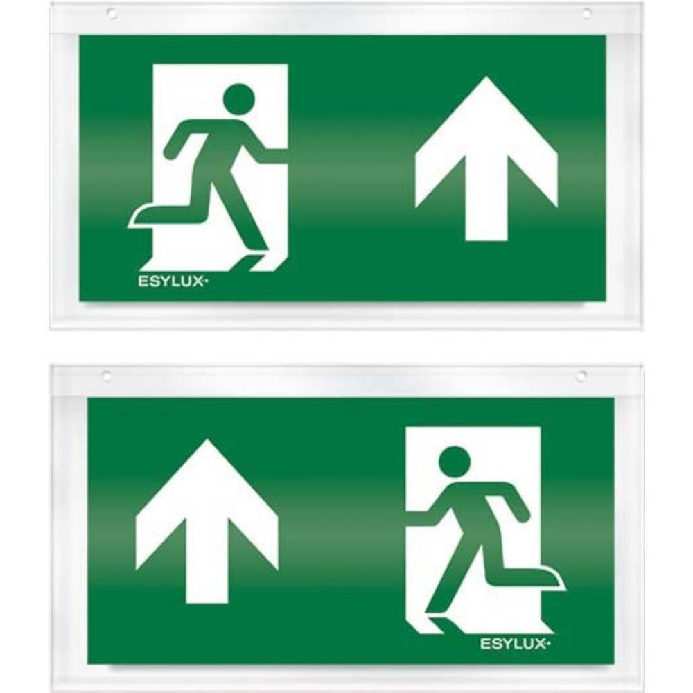 ESYLUX EN10032516 piktogram nouzový východ, směr vlevo nahoru, nouzový východ, směr vpravo nahoru