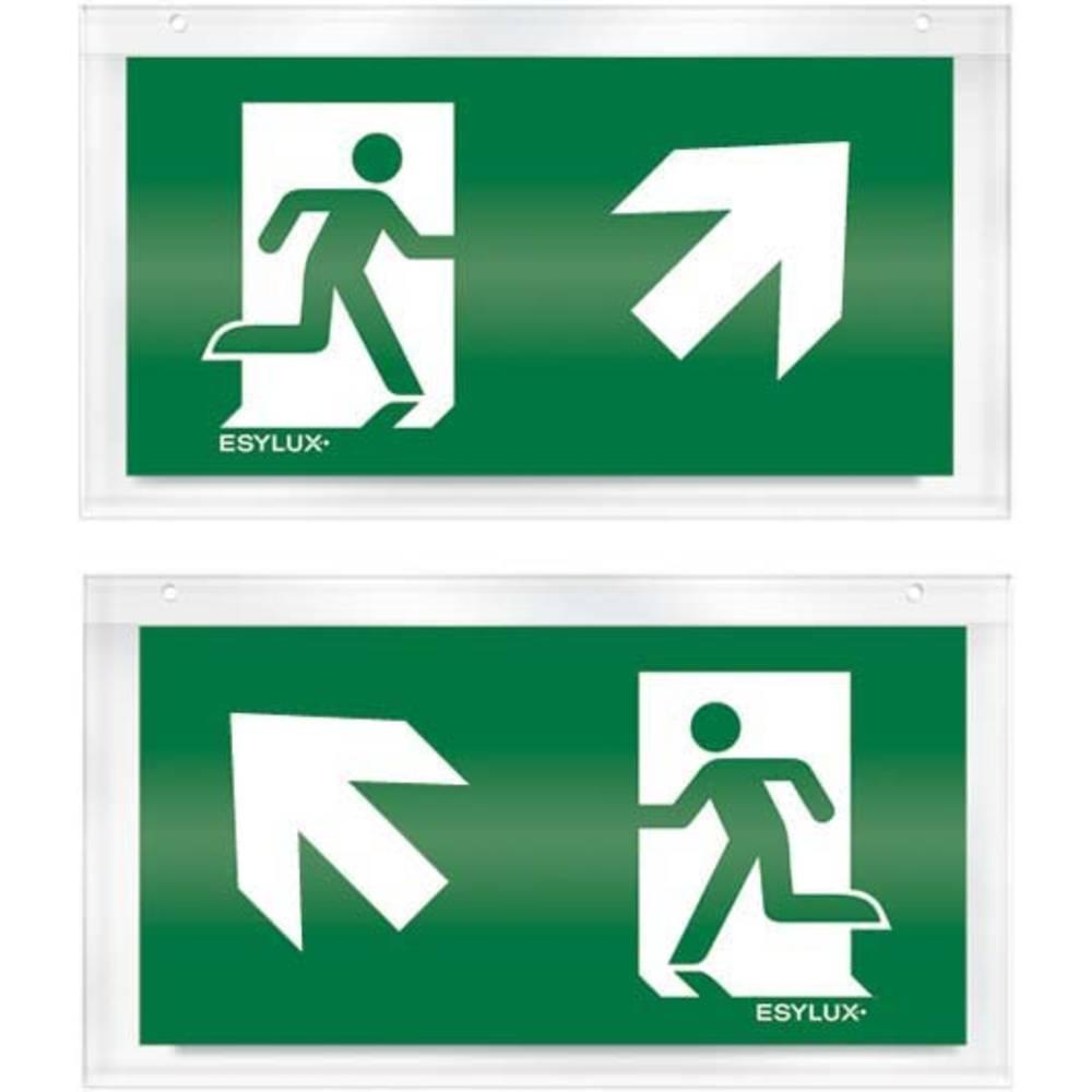 ESYLUX EN10033216 piktogram nouzový východ, směr vlevo nahoru, nouzový východ, směr vpravo nahoru