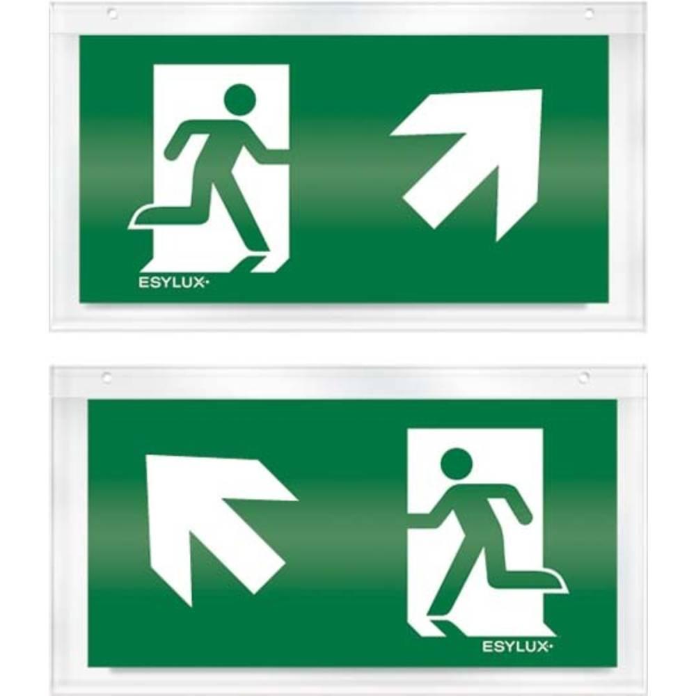 ESYLUX EN10032523 piktogram nouzový východ, směr vlevo nahoru, nouzový východ, směr vpravo nahoru