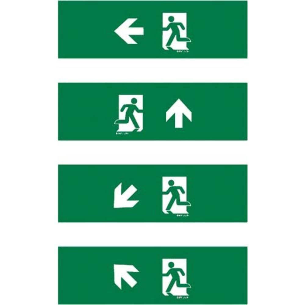 ESYLUX EN10077135 piktogram Nouzový východ vlevo, nouzový východ výše, nouzový východ, směr vlevo dolu, nouzový východ, směr vlevo nahoru