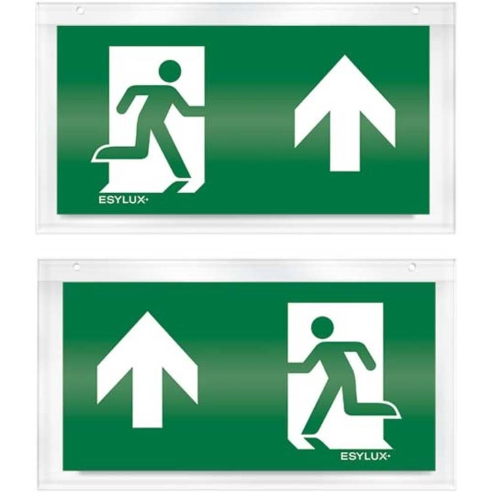 ESYLUX EN10033223 piktogram nouzový východ, směr vlevo nahoru, nouzový východ, směr vpravo nahoru