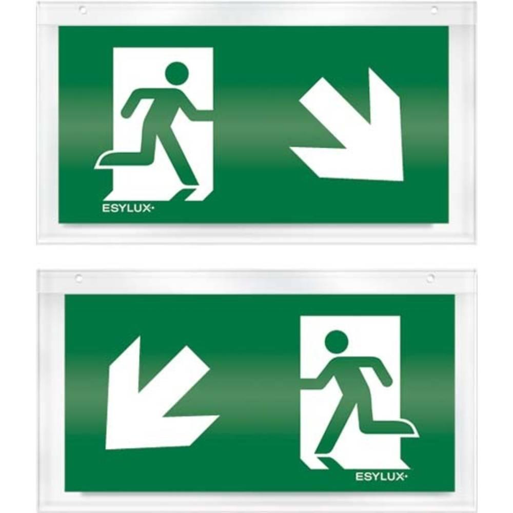 ESYLUX EN10032530 piktogram nouzový východ, směr vlevo dolu, nouzový východ, směr vpravo dolu