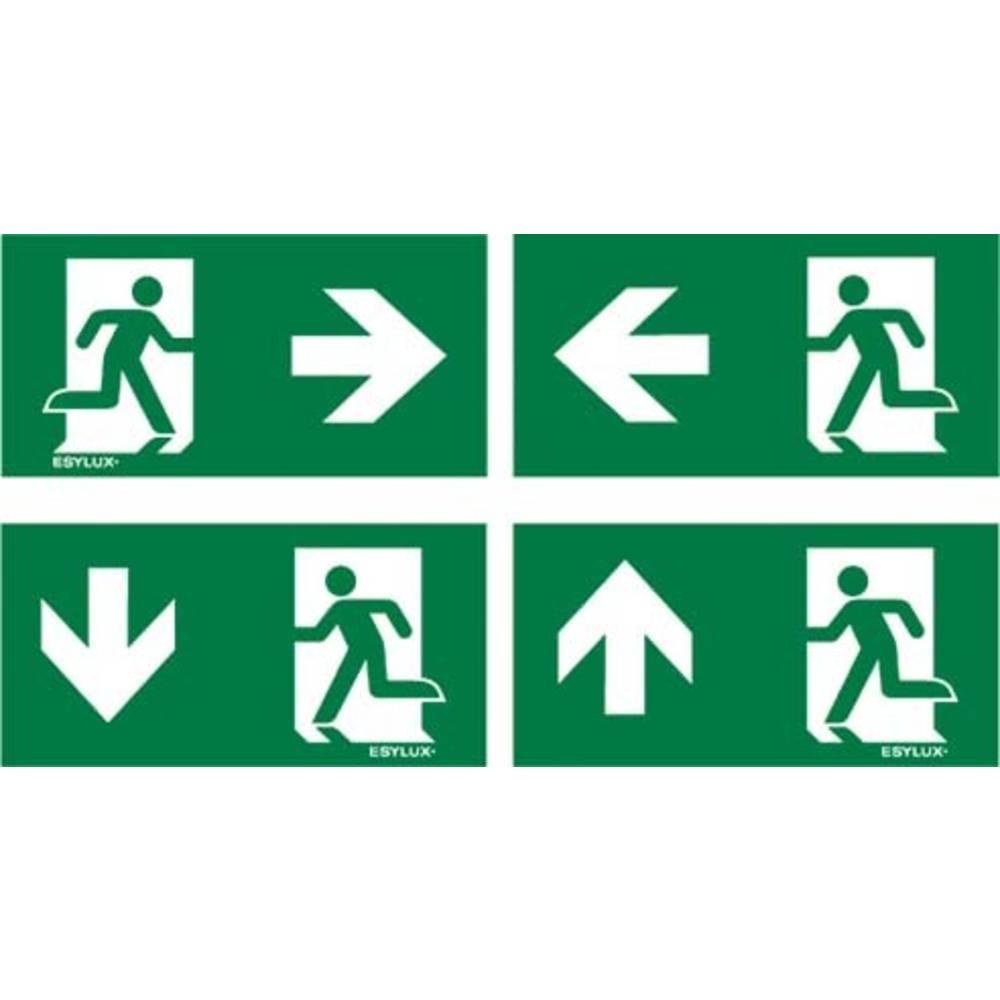 ESYLUX EN10077500 piktogram Nouzový východ vlevo, Nouzový východ vpravo , nouzový východ výše, nouzový východ níže