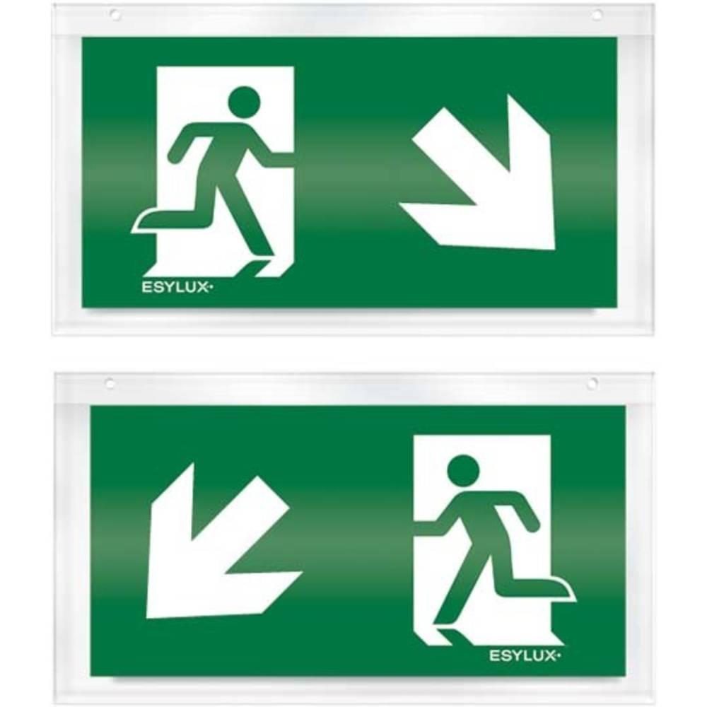 ESYLUX EN10032608 piktogram nouzový východ, směr vlevo dolu, nouzový východ, směr vpravo dolu