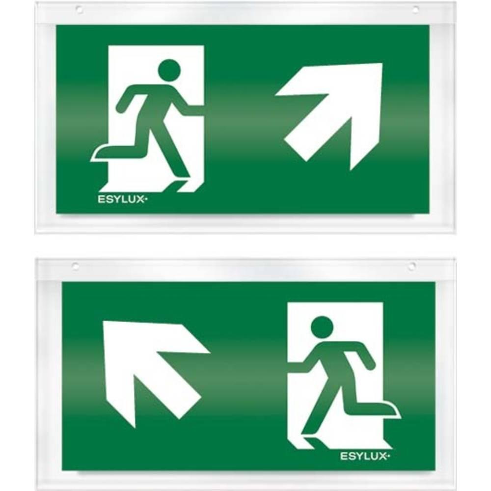 ESYLUX EN10032561 piktogram nouzový východ, směr vlevo nahoru, nouzový východ, směr vpravo nahoru