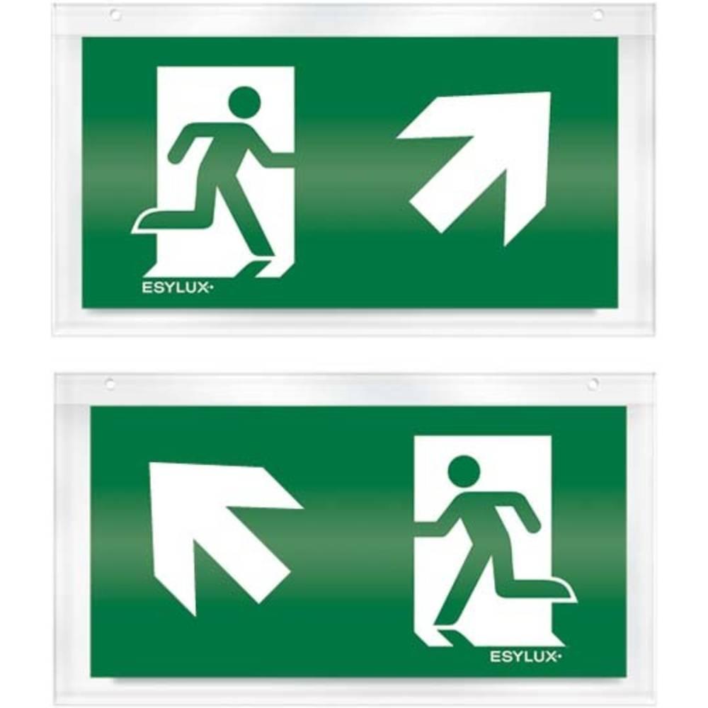 ESYLUX EN10032615 piktogram nouzový východ, směr vlevo nahoru, nouzový východ, směr vpravo nahoru
