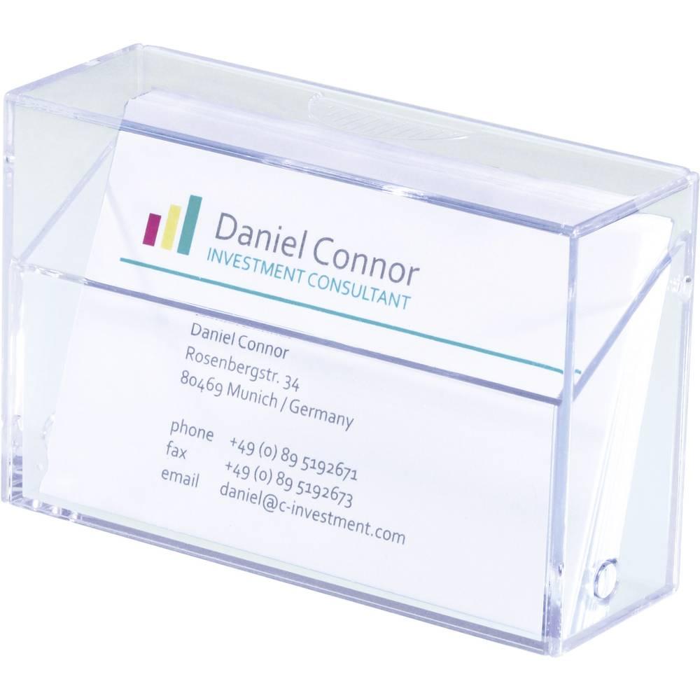 Sigel box na vizitky Počet přihrádek:1 100 karet transparentní 1 ks