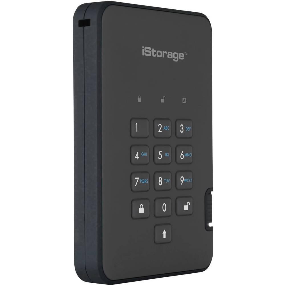 "iStorage diskAshur 2® externí HDD 6,35 cm (2,5"") USB 3.1 černá IS-DA2-256-3000-B"