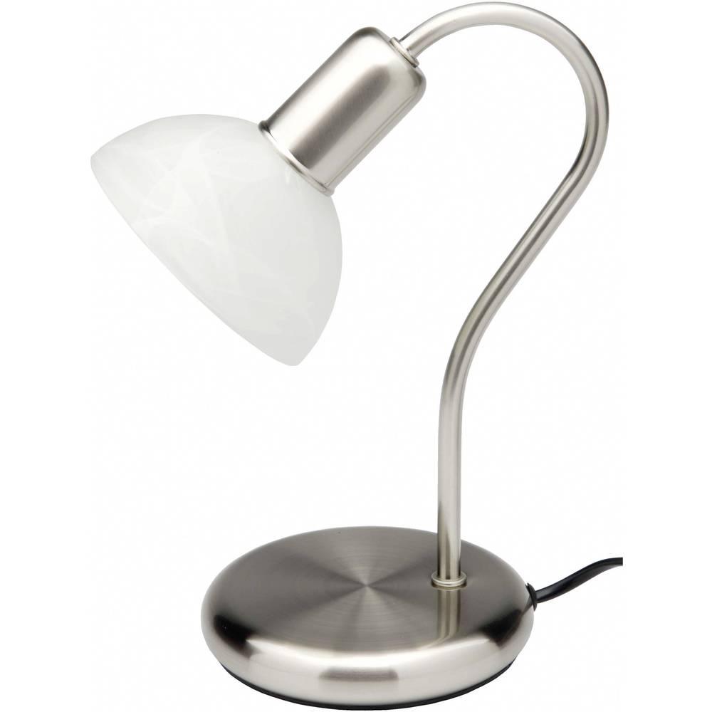 Brilliant Pearl 67347/75 stolní lampa LED E14 40 W nerezová ocel, alabastrová