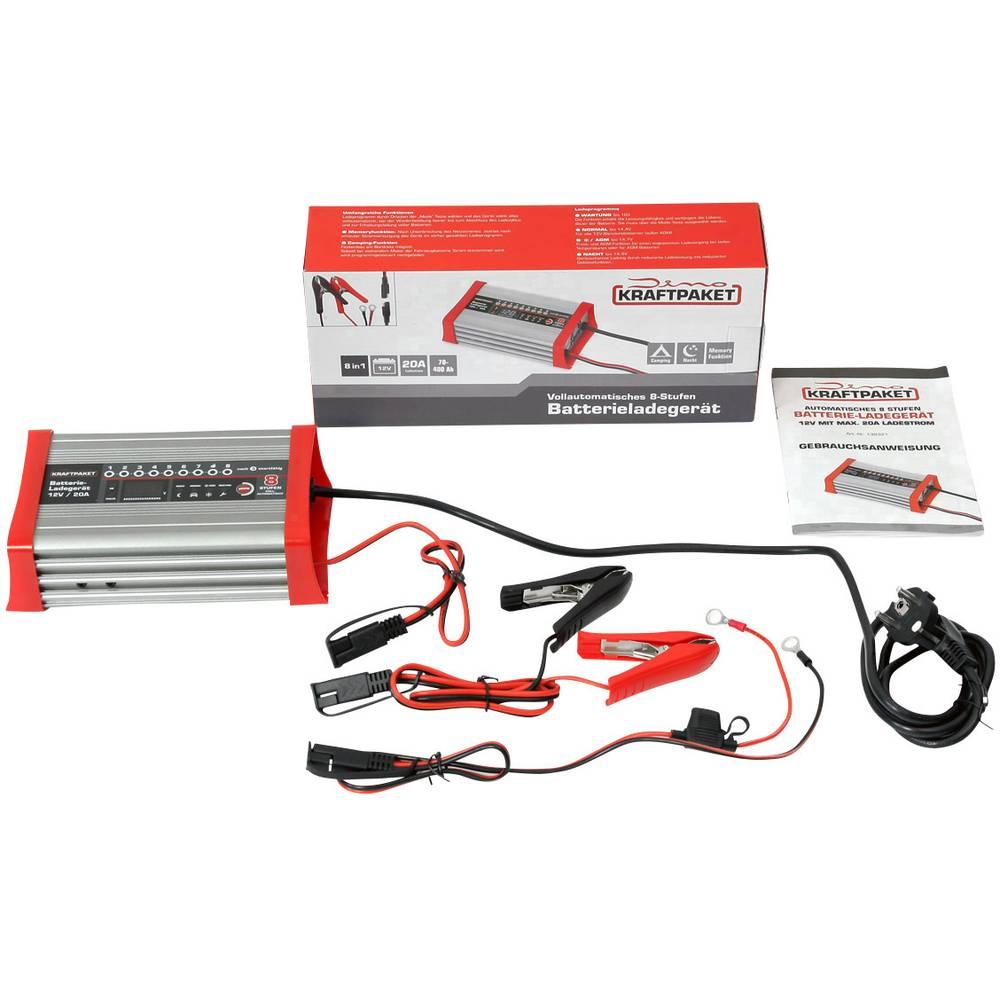 Dino KRAFTPAKET KFZ Batterieladegerät 20A-12V mit Camping-, Nacht-und Memory-Speicher 136320 nabíječka autobaterie 12 V 20 A