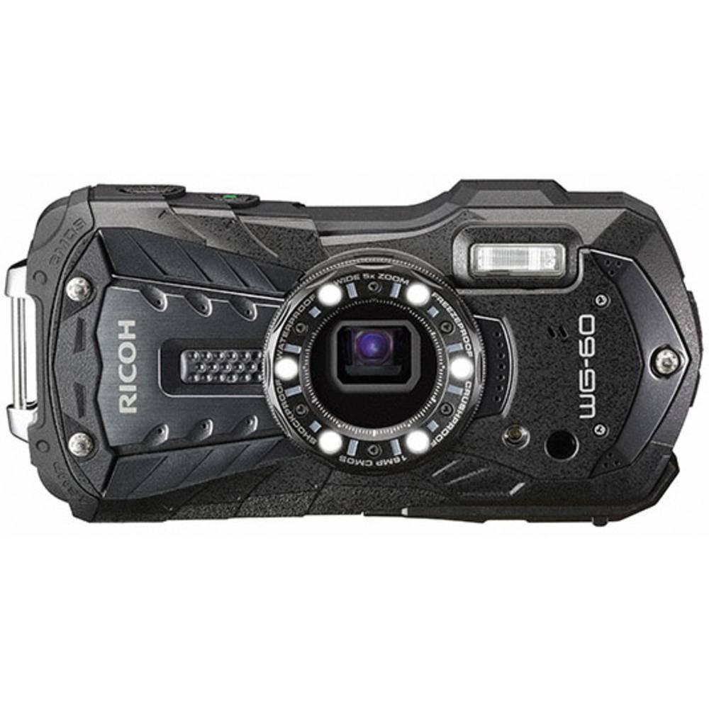 Ricoh WG-60 digitální fotoaparát 16 MPix Zoom (optický): 5 x černá vodotěsný, prachotěsný