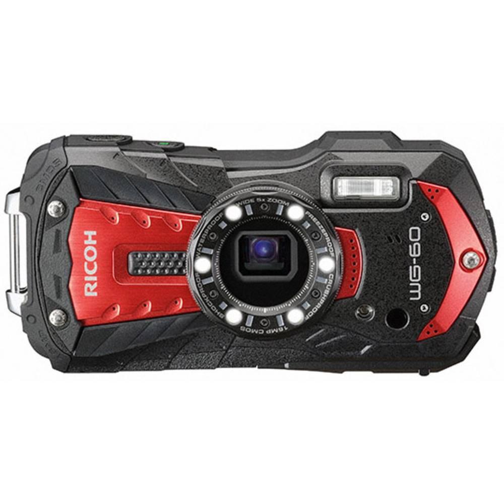Ricoh WG-60 digitální fotoaparát 16 MPix Zoom (optický): 5 x červená, černá vodotěsný, prachotěsný