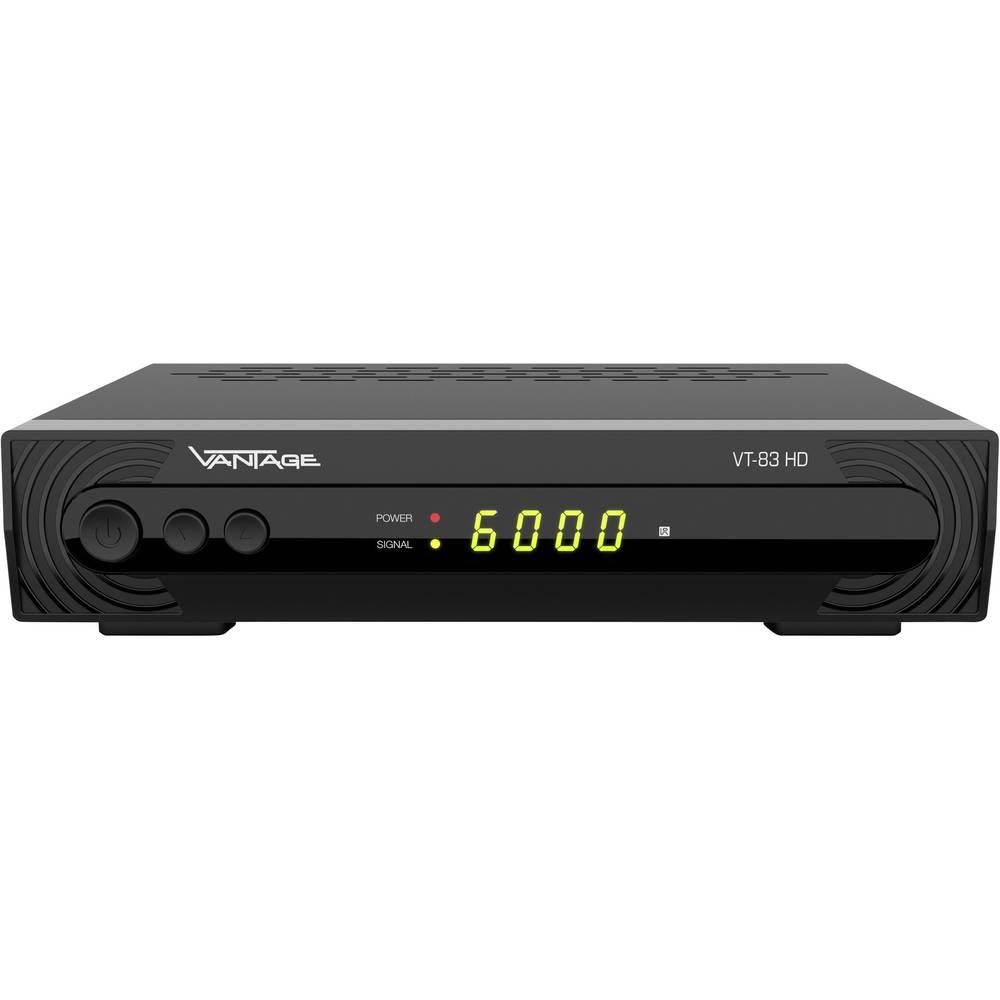 Vantage VT-83 HD satelitní HD přijímač přenos přes 1 kabel, vhodné pro kempování počet tunerů: 1