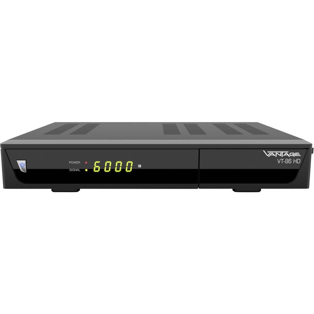 Vantage VT-86 HD satelitní HD přijímač přenos přes 1 kabel počet tunerů: 1