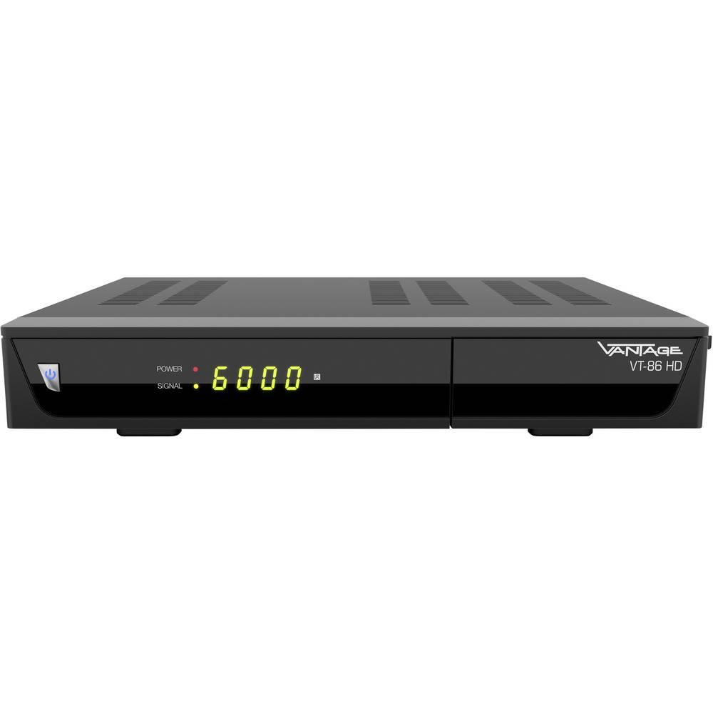 Vantage VT-86 HD satelitní HD přijímač vhodné pro kempování, přenos přes 1 kabel počet tunerů: 1