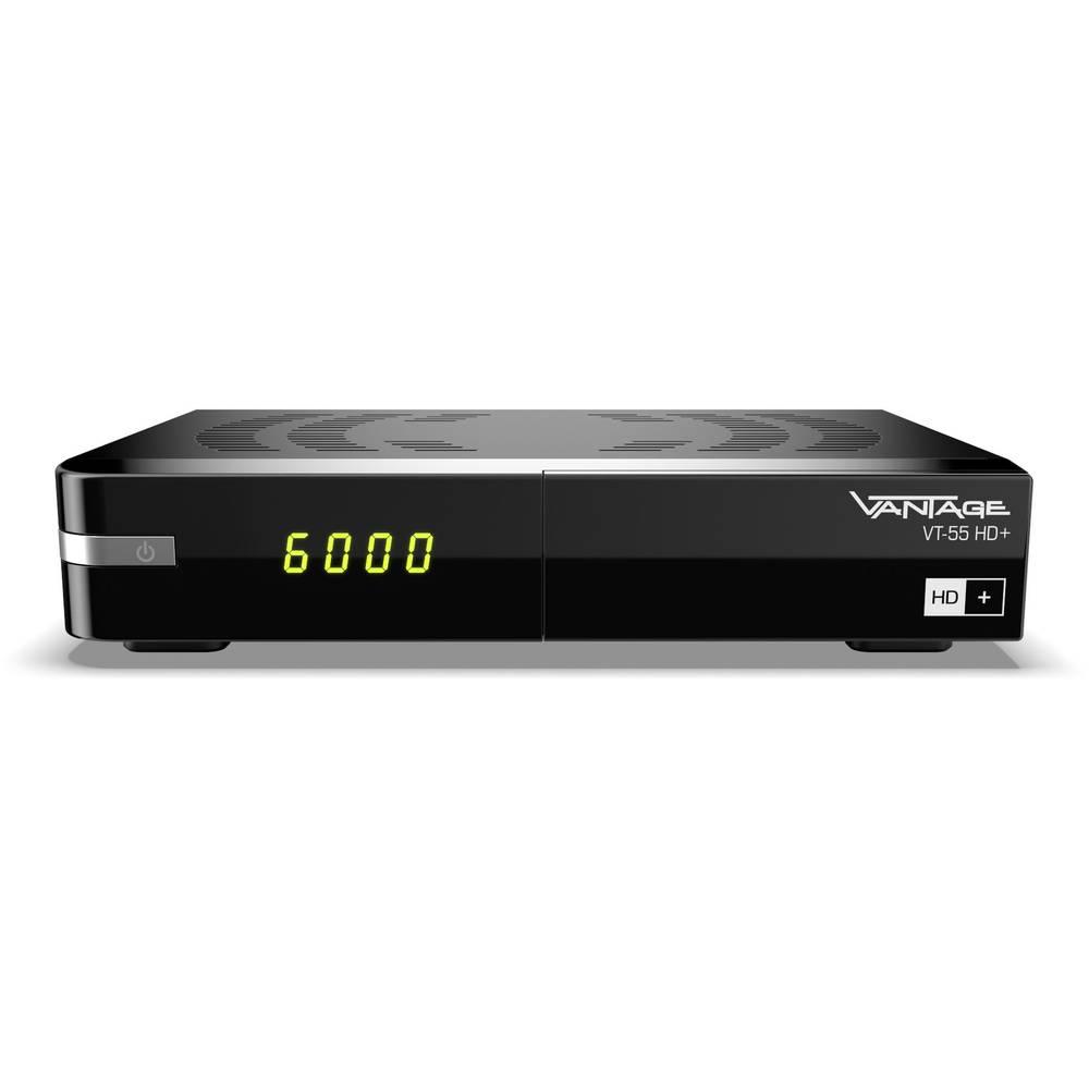 Vantage VT-55 HD+ satelitní přijímač včetně karty HD+, přenos přes 1 kabel, podpora LAN, vhodné pro kempování počet tunerů: 1
