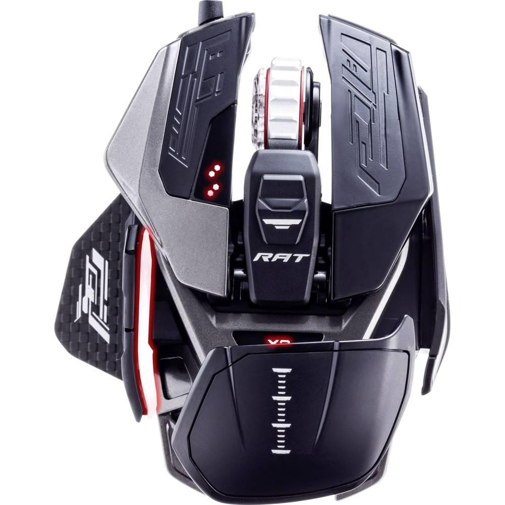 MadCatz R.A.T. X3 USB herní myš optická s podsvícením, ergonomická, podložka pod zápěstí, integrovaná profilová paměť černá